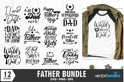 Dad father quotes bundle svg