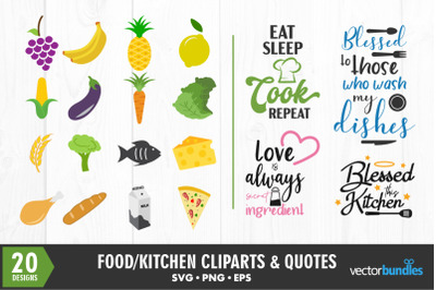 Gastronomy food clip art and quotes svg