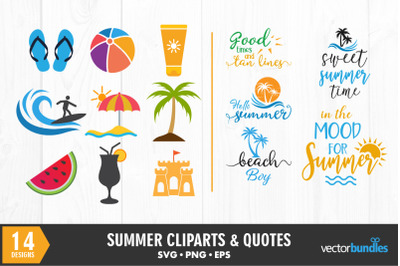 Summer quotes and clip art svg