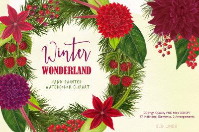 Christmas Watercolours Winter Wonderland
