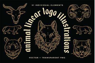 Animal Linear Logo Illustrations