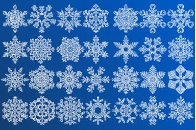 Snowflakes Mandala Bundle SVG Cut Files, Christmas Decoration, Winter