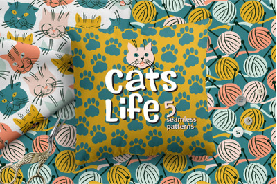 Cats Life Pattern Collection