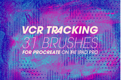 VCR Tracking Procreate Brushes