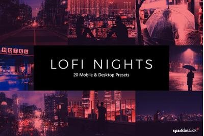 20  LoFi Nights LR Presets