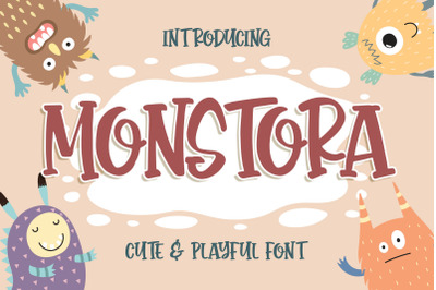 Monstora Cute & Playful Font