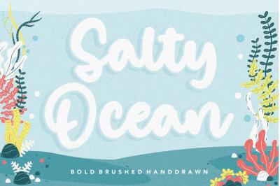 Salty Ocean Bold Brushed Handdraw Font