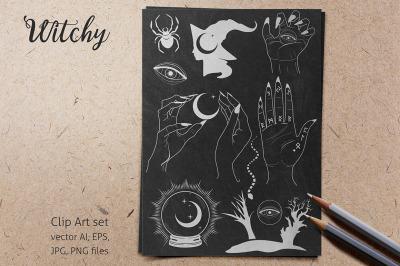 Witchy Vectors Set