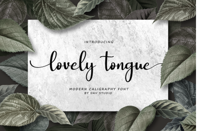 Lovely Tongue - Modern Calligraphy