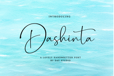 Dashinta - Lovely Handwritten Font