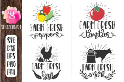 farm fresh, farm fresh eggs, milk, tomatoes, peppers, svg