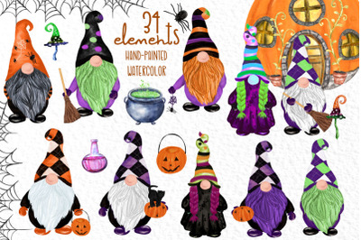 Gnomes clipart Thanksgiving clipart Halloween Kids clipart