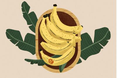 Banana Basket Illustration and Patterns