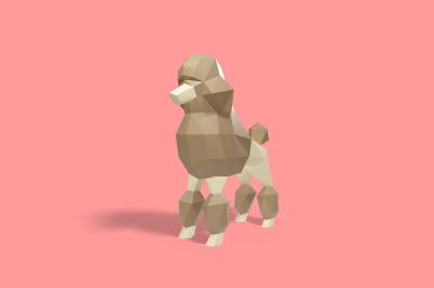 DIY Poodle puppy - 3d papercraft