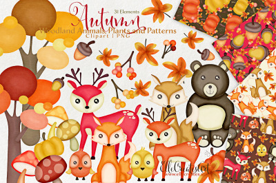 Autumn Clipart Bundle