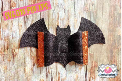 Bat Double Bows Template, Bat Bow, Halloween Bow, Batwing Bow, Cricut