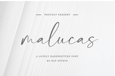 malucas - Lovely Handwritten Font