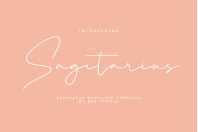 Sagitarius - Aesthetic Monoline Font