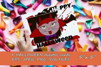 Halloween digital cards