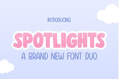 Spotlights Font Duo