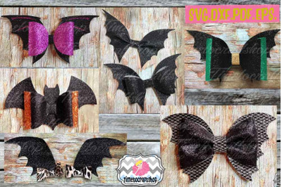 Halloween Bat Bow Template Bundle,Halloween Bow, Batwing Bow,