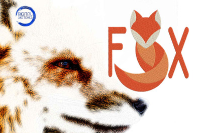Fox Saying Machine Embroidery Design
