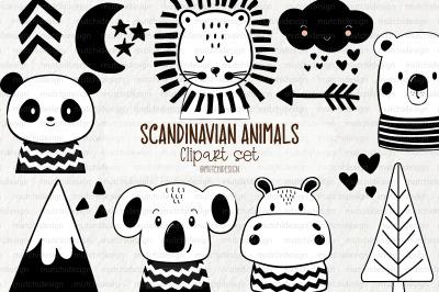 Scandinavian Animals Clipart Set
