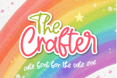 The Crafter - Crafting Font