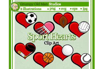 Sport Hearts - Soccer | Baseball | Football | Hockey