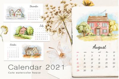 Calendar 2021 - Cute houses