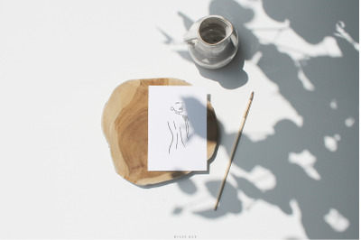 White card mockup and Art template