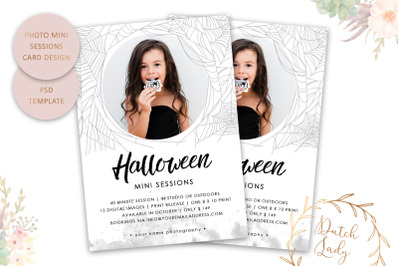 PSD Photo Session Card Template #70