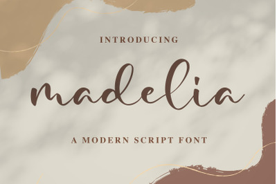 Madelia Modern Script Font