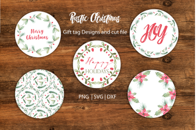 Christmas Watercolor Gift tag designs