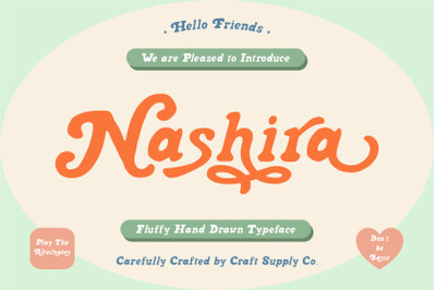 Nashira - Fluffy Hand Drawn Typeface
