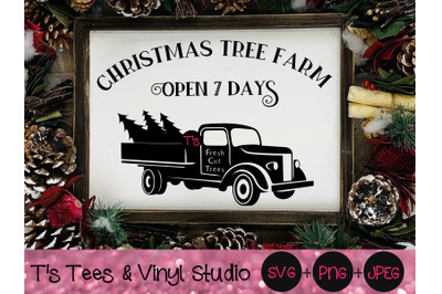 Christmas Tree Farm Svg, Vintage Truck Svg, Merry Christmas Svg, Old T