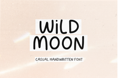 Wild Moon - Handwritten Font with Extras!