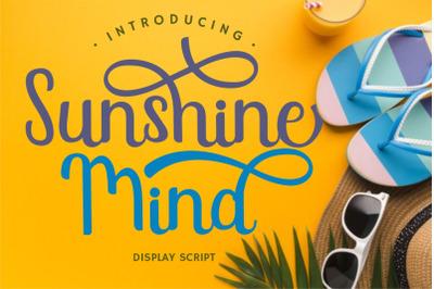 Sunshine Mind - Display Script Font