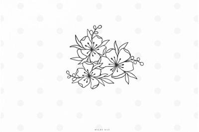 Wildflowers svg cut file