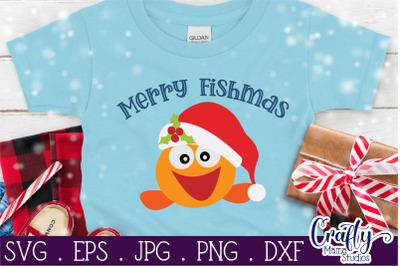 Christmas Svg, Animal Svg, Fish Svg, Merry Fishmas