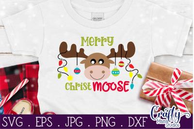 Christmas Svg, Animal Svg, Moose Svg, Merry Christmoose