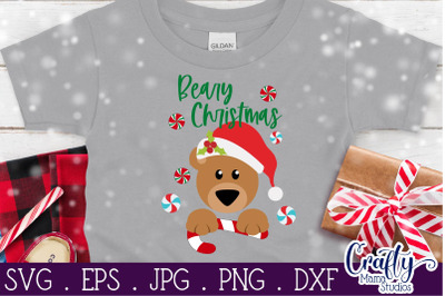 Beary Christmas Svg, Baby Bear Svg