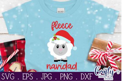 Christmas Svg, Animal Svg, Sheep Svg, Fleece Navidad, Feliz