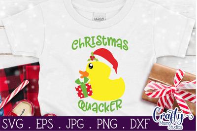 Christmas Quacker Svg, Duck Svg