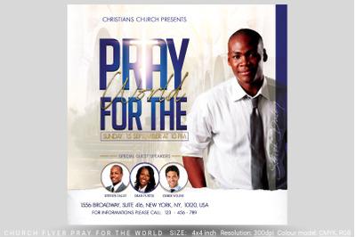 Church Flyer Pray For The World