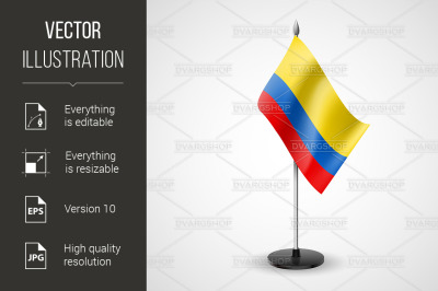 """""""Table flag of Colombia"""""""