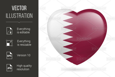 """Heart icon of Qatar"""