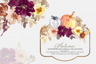 Autumn Flowers Clipart Collection