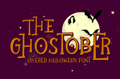 Ghostober | Halloween Layered Font
