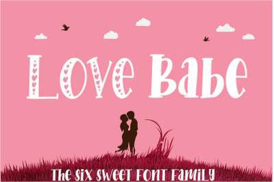Love Babe - craft font family